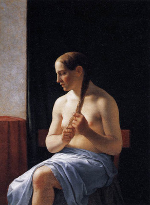 ECKERSBERG Christoffer Wilhelm Seated Nude Model
