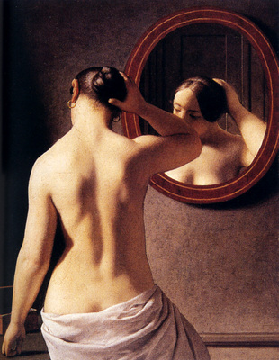 Eckerserg Christoffer Wilhem Woman Standing In Front Of A Mirror