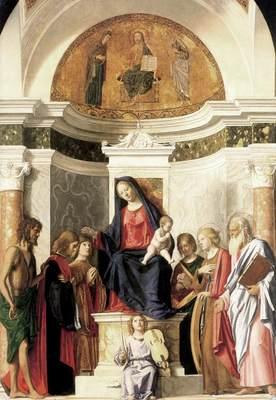 CIMA da Conegliano Madonna Enthroned With The Child