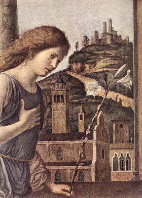 CIMA da Conegliano The Annunciation detail