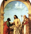 CIMA da Conegliano The Incredulity Of St Thomas With St Magno Vescovo