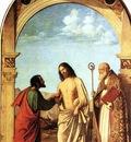 CIMA da Conegliano The Incredulity Of St Thomas With St Magno Vescovo