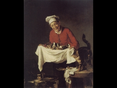 A Boy with dogs and Kittens
