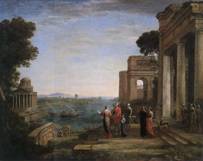 Aeneas Farewell to Dido in Carthago WGA