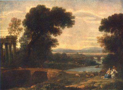 claude lorrain landscape with the rest on the flight into egypt
