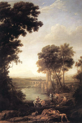 Landscape with the Finding of Moses WGA
