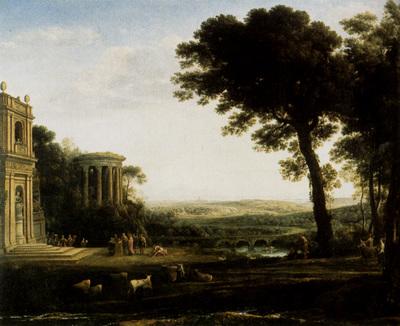 Lorrain Claude Landscape With A Sacrifice To Apollo