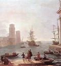 CLAUDE Lorrain Port Scene with the Departure of ulysses from the Land of the Feaci