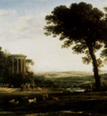Lorrain Claude Landscape With A Sacrifice To Apollo