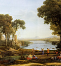 Lorrain Claude Landscape With The Marriage Of Isaac And Rebekah