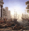 Port Scene with the Embarkation of St Ursula WGA