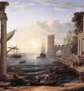 Seaport with the Embarkation of the Queen of Sheba WGA