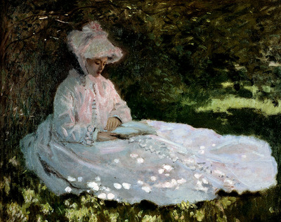 monet a woman reading