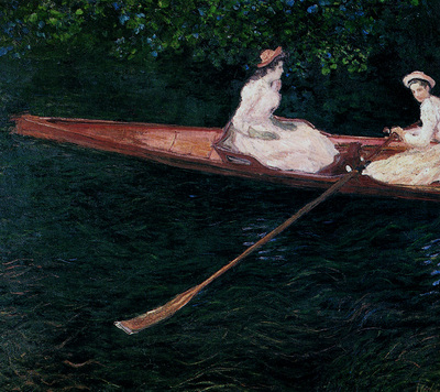 monet boating on the river epte