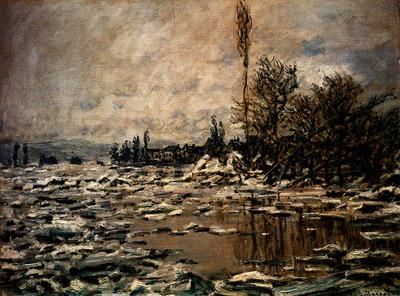 Monet Break up Of Ice Lavacourt