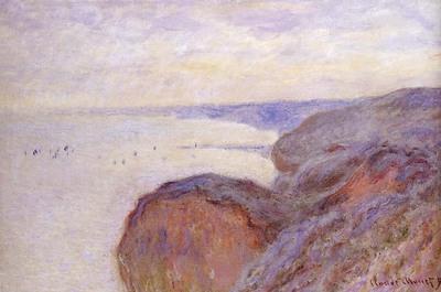 Monet Claude Cliffs Near Dieppe