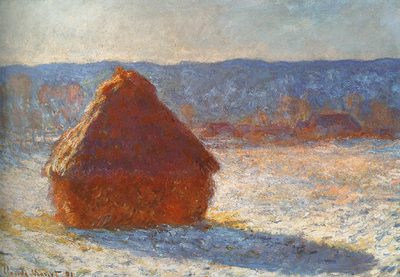Monet Claude Haystack snow effect 1891 cat24
