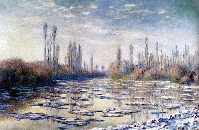 Monet Floating Ice Near Vetheuil