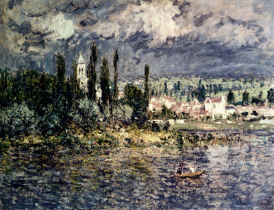 Monet Landscape With Thunderstorm