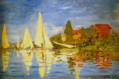Monet Regatta At Argenteuil