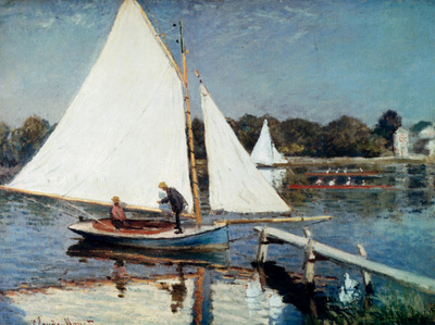 Monet Sailing At Argenteuil