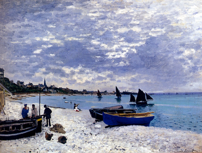 Monet The Beach At Sainte Adresse