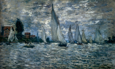 Monet The Boats Regatta At Argenteuil