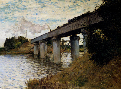 Monet The Railway Bridge At Argenteuil