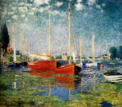 Monet The Red Boats Argenteuil