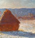 Monet Claude Haystack snow effect 1891 cat24