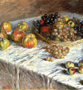 Monet Claude Still Life Apples And Grapes