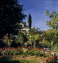 Monet Garden In Flower At Sainte Adresse