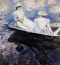 monet girls in a boat