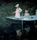 monet in the rowing boat