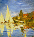 Monet Regatta At Argenteuil