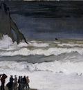 Monet Rough Sea At Etretat