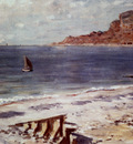Monet Sailing At Sainte Adresse