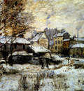 Monet Snow Effect With Setting Sun