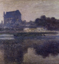 monet the church of vernon in the mist