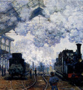 Monet The Gare Saint Lazare Arrival Of A Train