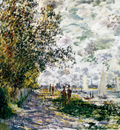 Monet The Riverbank At Gennevilliers