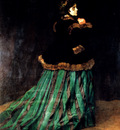 Monet Woman In A Green Dress