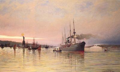 Dommelshuizen Cornelis Christiaan A View Of New York Harbor