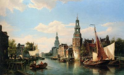Dommersen Cornelis Christiaan The Montelbaans Tower Amsterdam