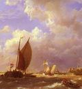 Dommelshuizen Cornelis Christiaan A Sunlit Dock