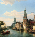 Dommersen Cornelis Christiaan The Montelbaans Tower Amsterdam