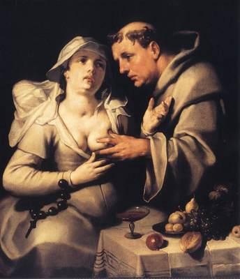 CORNELIS VAN HAARLEM The Monk And The Nun
