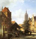 Springer Cornelis Figures In A Street In Delft