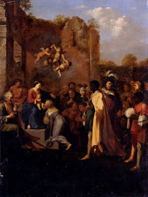 Poelenburch Cornelis Van Adoration Of The Magi