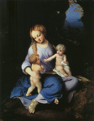 CORREGGIO Madonna And Child With The Young Saint John